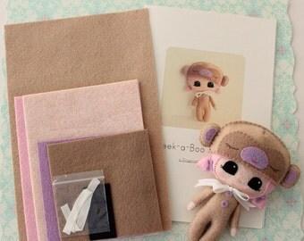 Peek-a-Boo Monkey Pattern Kit