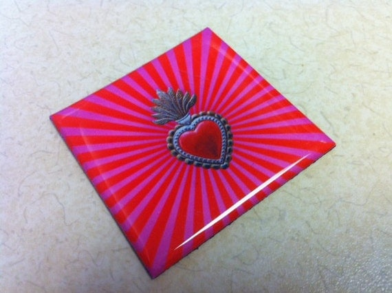 Sacred Heart Pink Magnet