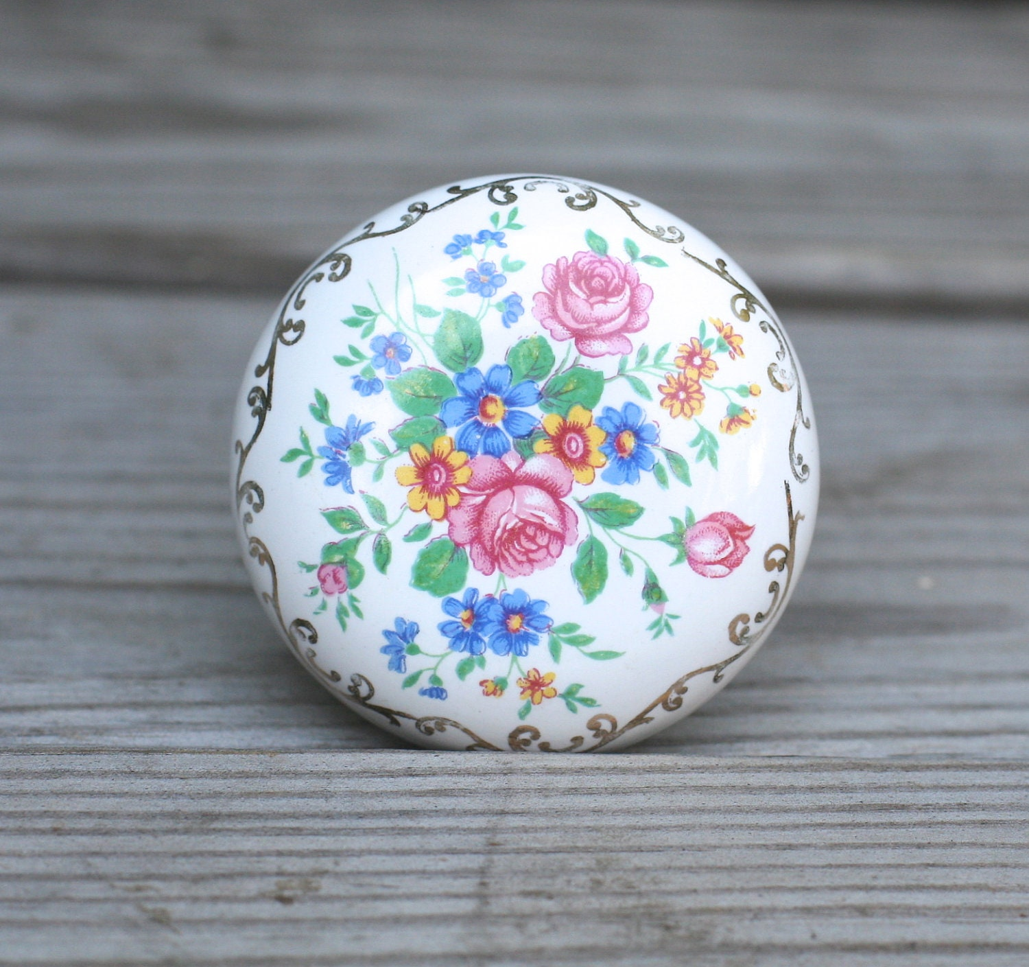 Antique Floral: Vintage Antique Porcelain Door Knobs Floral