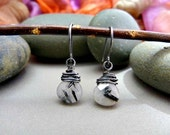 Only a few left!!! Tourmalinated Quartz and Niobium Earrings - Pick Your Gems