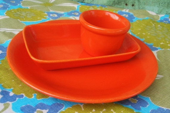Red Orange Dinnerware Stangl