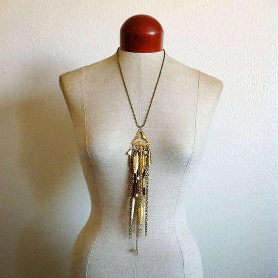 Howling Wind- African Porcupine Quill Statement Necklace