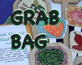 Garden Lovers Grab Bag, 10 original beaded garden markers and 10 bright veggie greeting cards