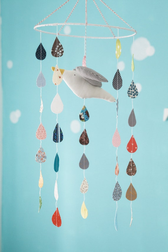 SALE 15% OFF - Seagull mobile (mix of colors) - nursery mobile - baby mobile - room decor