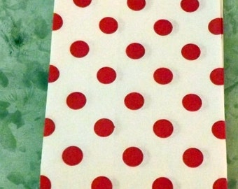 Paper Bags Red Polka Dot Little Bitty Bags Set of 10