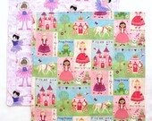 Cloth Napkins, Kids School Lunchbox Napkins, Kids Lunch Napkins, Fabric Napkins, Princess Ballerina, Set of 2 double sided napkins