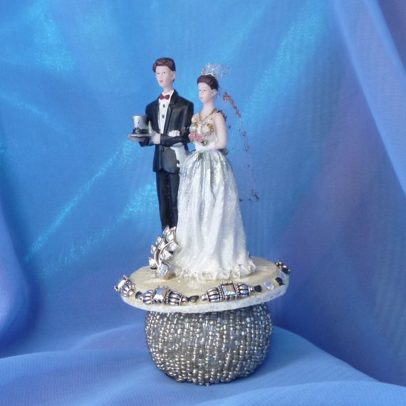 Steampunk Bride and Groom, Wedding Cake Topper
