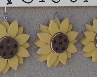 MONTHLY WELCOME SUNFLOWERS Decorations (no sign included) for wall and home decor