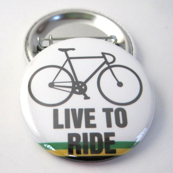 Jamaican Bike 1 1/2 inches (38mm) Pinback  Button or Magnet