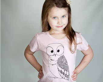 Cute Baby Clothes, Owl Shirt, Girl Clothes, Pink T-shirt, Owl t shirt, Graphic T-shirt, kids fashion