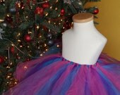 Tutu Cute - Pink, Turquoise and Purple - Toddler Size