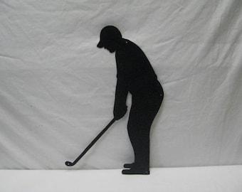 Golfer Large Metal Sports Lawn Wall Yard Art Silhouette