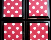 Red Polka Dot Magnet Set