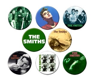 Choose 1 Photo Magnet from 8 Smiths Designs - 2.25 inch Round Fridge Magnet -The Smiths with Morrissey