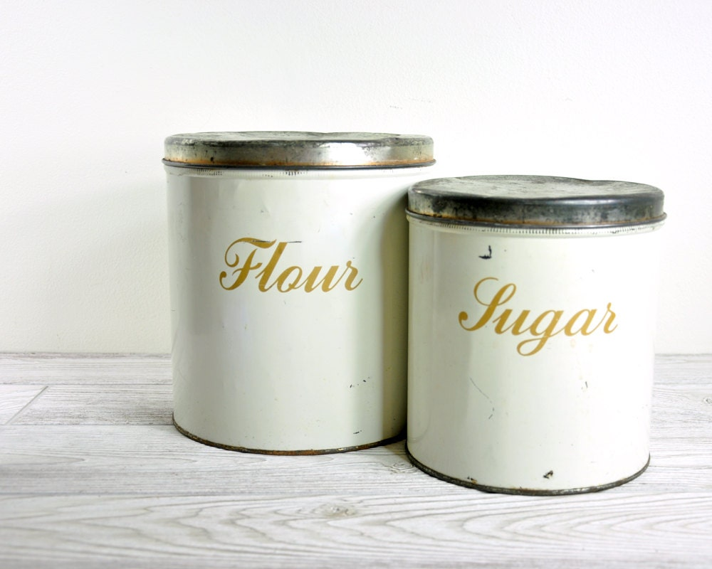 Vintage canister set mid century kitchen canister set for Kitchen set vintage
