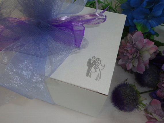 Glassware Gift Boxes  - Personalized to match your Wedding Colors - RESERVED FOR NICOLE
