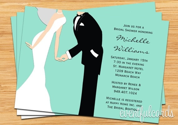 Wedding Bridal Shower Invitation Couple You Pick the color by – His and Her Wedding Shower Invitations