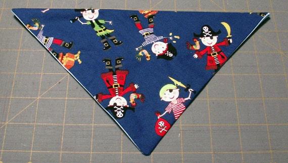 Pirate Kids Handmade Dog Bandana Summer, Beach, Nautical
