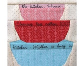 In The Cupboard - Mixing Bowl Set, Paper Pieced Pattern