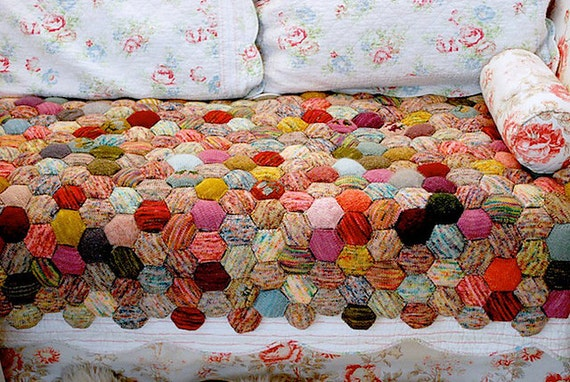 Quilt Patterns To Knit : Bee Keeper s Quilt Knitting Pattern by MagpiePatterns on Etsy