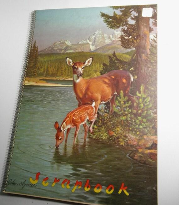Vintage Scrapbook Cover : Vintage scrapbook illustrated by john clymer cover deer
