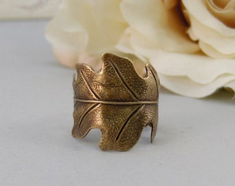 Brass Leaf,Ring,Brass,Leaf,Twigg,Branch,Leaf Ring,Antique Ring,Silver Ring,Woodland, Handmade jewelery by valleygirldesigns.