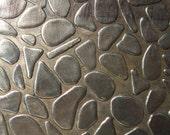 Nickel Silver Texture Metal Sheet Large Pebble Pattern 18g - 6 x 2 inches - Hammering Sheet Metalwork
