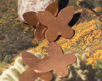Copper Butterfly Fantastic for Blanks Enameling Stamping Texturing