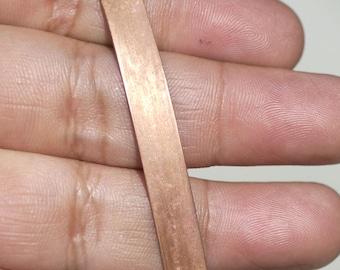 Copper Bezel Wire - Handmade - 7.5mm wide - 28 Gauge - 3 feet length