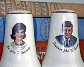 President J.F. and Jackie Kennedy Salt and Pepper Shakers