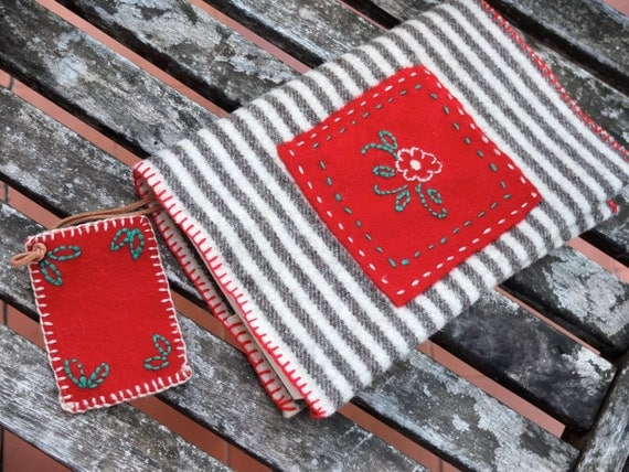 Diy Felt Book Cover ~ Embroidered book cover kit made of portuguese by agulhanaopica