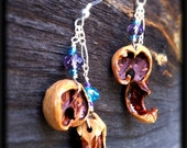 Squirrel Chewed Earrings RESERVED for Irene