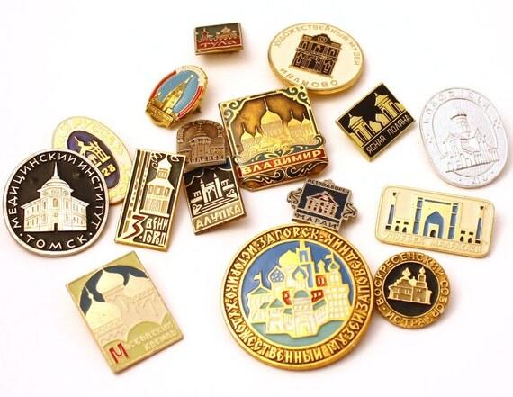 Set of vintage pins