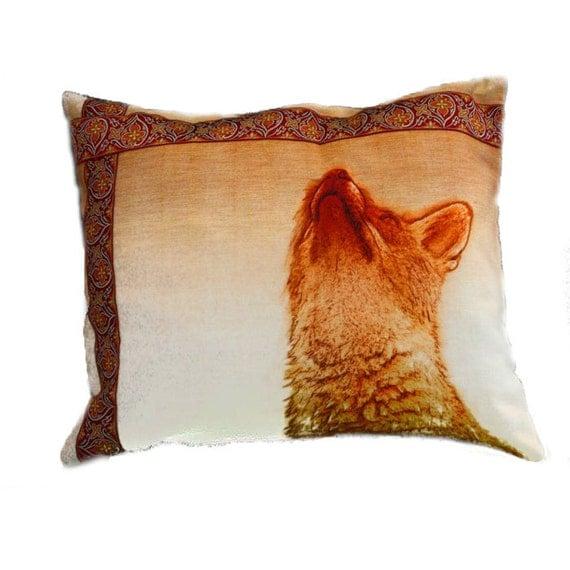 Pillow Cushion Fox Autumn  Golden Browns Reds England