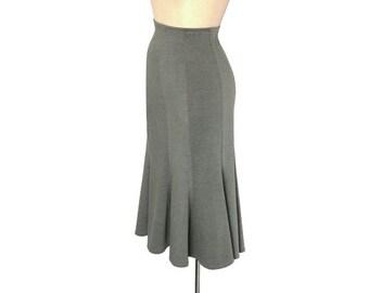 long plus size skirt wide waist skirt a line pleated skirt