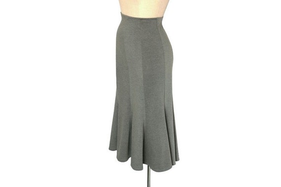 to wear - Jersey Grey maxi skirt pictures video