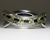 A River of Peridot - Sterling Silver