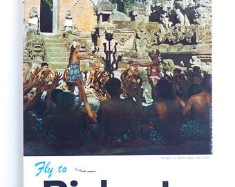 Original 1960's JAL Japan Air Lines Djakarta Poster