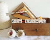 Vintage Wooden Rulers A Set Two in Centimetres Back to Old School