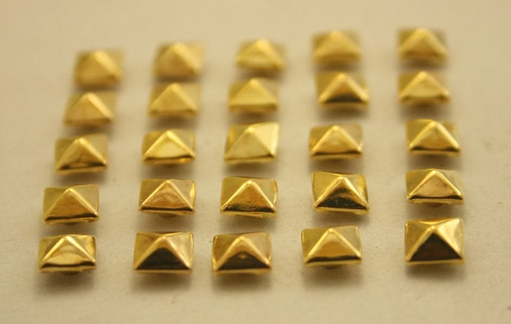 100 pcs. Dark Gold Pyramid Rivet Studs Leathercraft Decorations Findings 6 mm. KPRG6