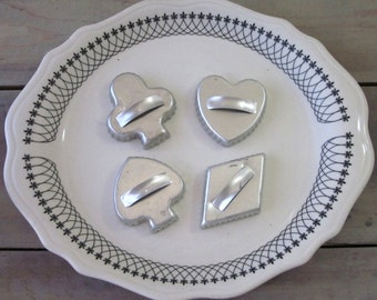 Cookie Cutters Card Suits Set of Four Club, Diamond, Heart, Spade