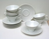 RESERVED FOR MICHAEL. Rosenthal Modern Classic White cups and saucers. 2000 line.