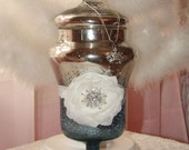 Vintage Style Silver and Blue Ombre Mercury Glass Canister