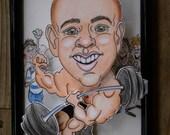 Custom Themed Bobble Head Caricatures  5 x 7