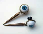"Eye Spike Dangly Plugs - 6g 4g 2g 0g 00g 7/16"" 1/2"" 9/16"" 5/8"" 3/4"" Made to Order"