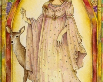 The Muse - From The Chrysalis Tarot Troupe Of Medieval Characters