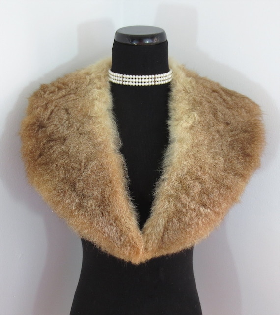 Lush Vintage 1950's-1960's Red Fox Fur Collar fo Sweater or Coat