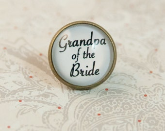 Grandpa of the Bride Tie Tack, Tie Pin, Lapel Pin,  Wedding Brooch, Boutonniere Pin
