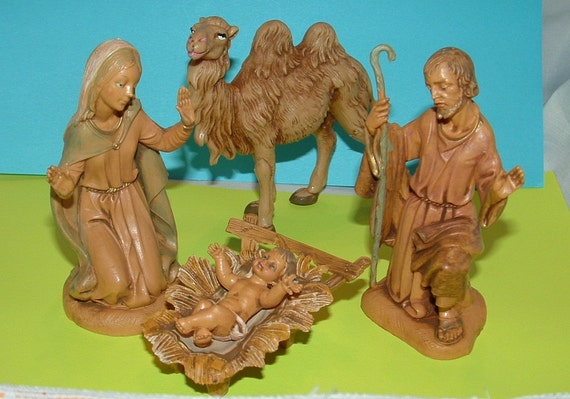 Fontanini Depose Italy Christmas Nativity Set Vintage 1983