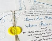 Wax Sealed Twine Wedding Invitations